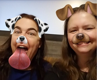Eileen and me with Snapchat