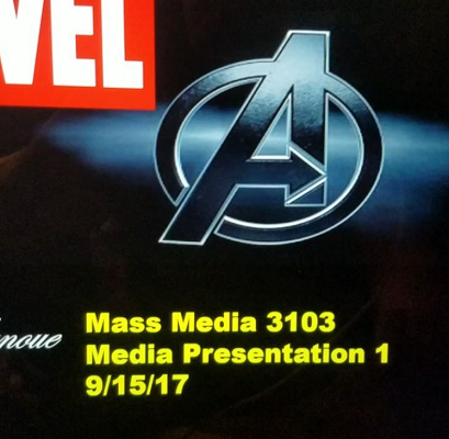my Marvel presentation first slide