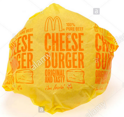 McDonald's cheeseburger